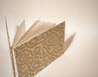 gold vines coptic bound wedding guest book - gold blank wedding guestbook - small gold wedding guest book - hand bound wedding guest book