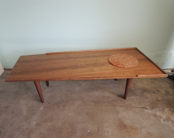 MID CENTURY MODERN Angled Wood Coffee Table (Los Angeles)