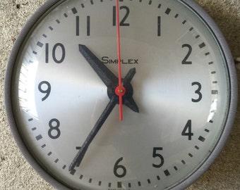 Wall Clock / Mid Century  Industrial Office / School Wall Clock