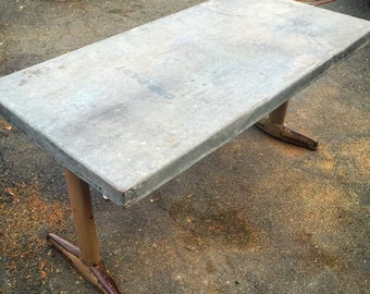 Zinc Table Etsy - Zinc top dining table