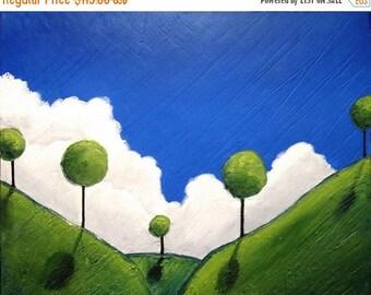 "wall canvas art landscape original textured sculpture ""Eden 3"" canvas pop abstract impasto art tree of life paintings on canvas 16x20"""