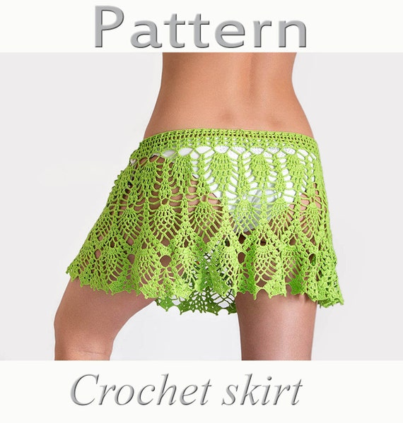 Free Pattern Crochet Cover Up : Crochet beach skirt PATTERN PDF crochet cover up