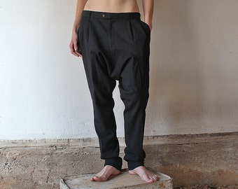 Black harempants / upcycled from 2 pants