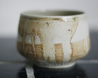 Stoneware tea bowl, chawan - seconds sale