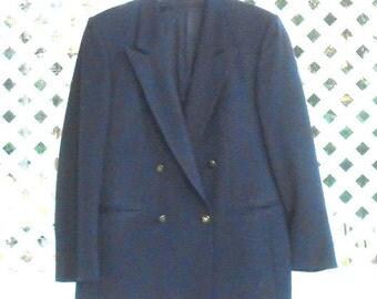 Mens Blue Sports Jacket Wool Coat Mens Sport Coat Mens Wool Coat Wool Jacket Double Breasted Coat
