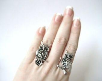 Two Sisters Ring Set - 2 Sister Rings - Adjustable Best Friend Rings Gift - Silver Bestfriend Rings - Silver Sister Rings For Her