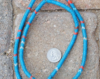 Old Snake Beads: Turquoise/Coral
