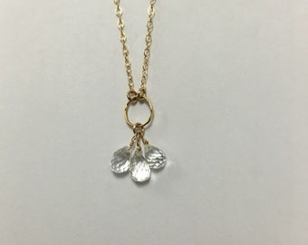 Clustered White Tooaz Necklace