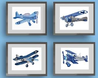 Vintage Airplane Wall Art airplane nursery | etsy