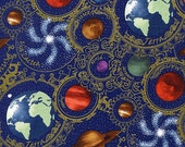 Planets Blue - Celestial Collection - In the Beginning - Jason Yenter - Half Yard