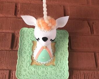 Unicorn Faux Taxidermy
