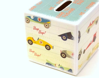 Race Car Wood Piggy Bank, Tirelire, Wood Banks, Kids Banks, Boy,  Piggy Banks, Kids room Decor, race car, Gift set, Soapbox car, derby, boys