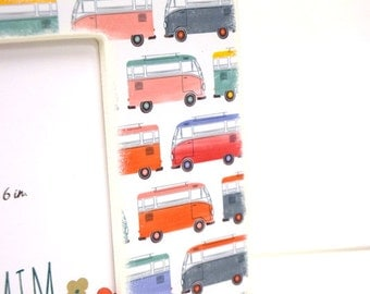 Volkswagen Bus 4 x 6 Picture Frame, Photo Frame, Unique frames, Apartment decor, Van life, Travel, Hippie, Boho, Bohemian, Groovy, Colorful