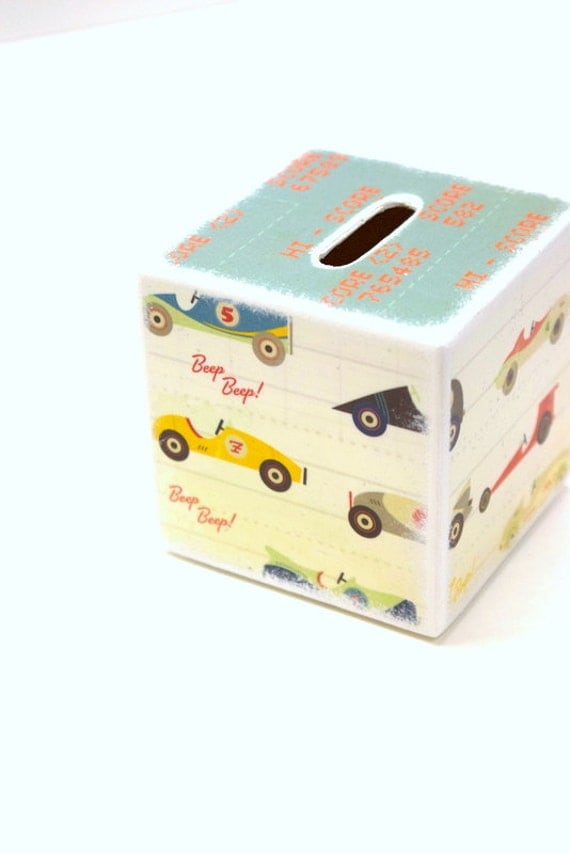 Race car wood piggy bank tirelire wood banks kids banks - Coin banks for boys ...