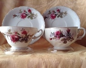 Cosette and Marius Broadway Musical Inspired Altered Cup and Saucer Set
