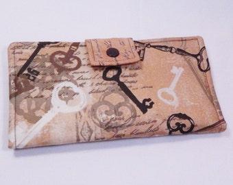 Keys Wallet, Handmade Wallet, Bifold Wallet, Copper, Brown Clutch, Checkbook Wallet