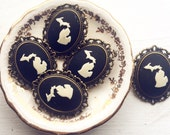 10 Michigan Brooches Cameo / Vintage Style Brooch Pin / Wholesale Wedding Favors Bridesmaids Favor Gift / Retail Shop Themed Party