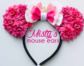 Inspired Aurora Rose Mouse Ears