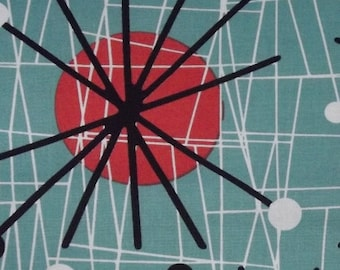 Michael Miller - Mid Century Modern - Atomic - Turquoise - by the yard