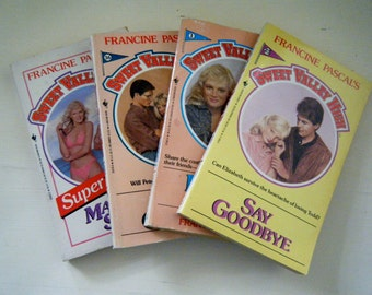 Sweet Valley High Books, Instant Collection, Set of 4 Paperbacks, 1980s, Teen Young Adult Books, Includes the First Book and Super Edition