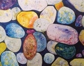 Maine rocks Watercolor Pr...