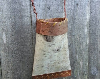 Birch Bark Vase / Wall basket