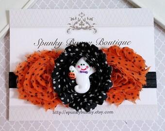 Halloween Headband, Halloween Baby Headband, Baby Halloween Outfit, Stretchy Soft Elastic Headband,Halloween Hair Accessory,Orange and Black