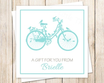 bicycle tags . bicycle favor tags . bicycle gift tags . personalized . stickers . bird silhouette, vintage . PRINTABLE . YOU PRINT