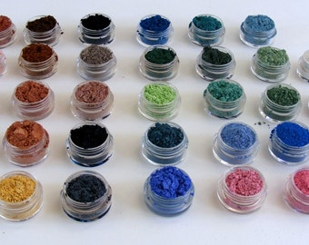 Mineral Eyeshadow Mineral Makeup Samples,Mineral Eye Color,Loose Eyeshadow Samples,Cruelty Free Makeup, ridesmaid Gifts,ONE Eyeshadow Sample