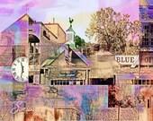 Wayzata Past, digital art photo, wall art, home decor, Minnesota art, office art, Sunsets, Blue Point, Minnesota art, Wayzata art, lake city