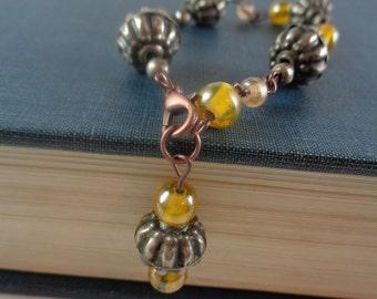 Rustic Amber bracelet