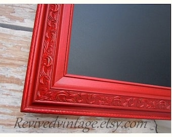 large red framed chalkboard for kitchen magnetic 54x30 tuscan red kitchen french country home office furniture unique interior signage