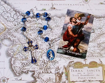Unbreakable Catholic Chaplet of St. Christopher - Patron Saint of Travellers, Transportation Workers and Against Floods