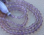 WOW,Brand New,Rare Natural Royal LAVENDER Quartz Faceted Round Balls,5mm size,9 Inch Long strand,Superb Gem Stone