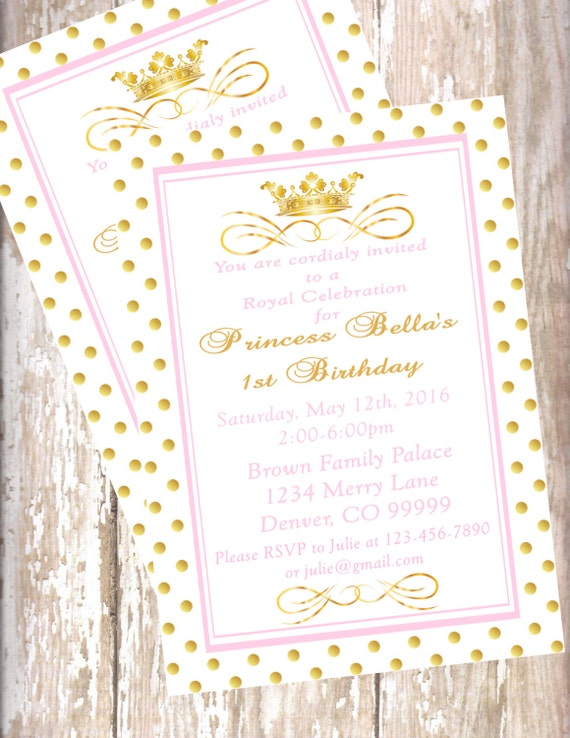 Printable pdf princess invitations pink and gold baby shower il570xn filmwisefo