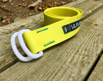 Soulrun Fat Belt - Yellow with White D-rings