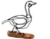 Goose Wire Sculpture, Wire Art, Minimal Wire Sculpture, Calder Inspired, 479705671