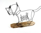 Silky Terrier Dog Wire Sculpture, Folk Wire Art, Dog Sculpture, 266258201