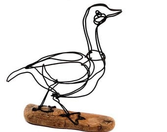 Goose Wire Sculpture, Wire Art, Minimal Wire Sculpture, Calder Inspired, 479705671