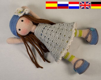Crochet pattern for doll LILLY (Deutsch, English, Nederlands, Español, русский)