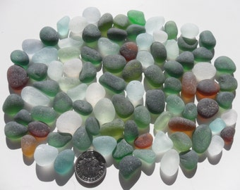 92 Jewellery Pieces - Beautiful English Seaham Sea Glass - Free Shipping (4731)
