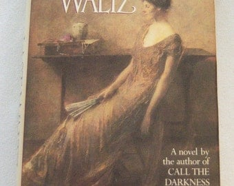 The Last Waltz written by Nancy Zaroulis copyright 1984, dark pink and brown book decor, vintage book decor