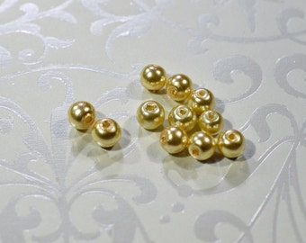 Bronze Glass Pearls, 2 sizes, #1215/1216