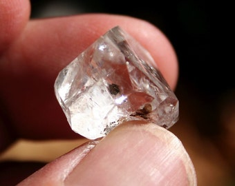 Herkimer Diamond from New York Quartz Crystal Specimen With Manifestation and Rainbow