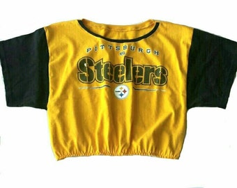 OOK upcyled Pittsburgh Steelers cropped tee