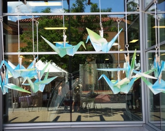 3D Origami mobile with cranes