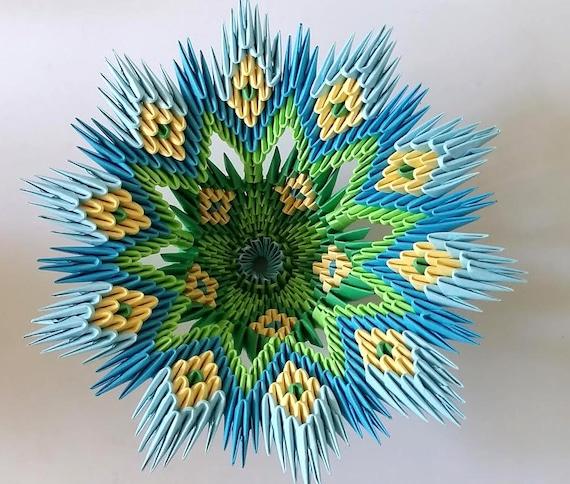 Vase 3d Origami Diagram: 3d Origami Blooming Vase Ombre