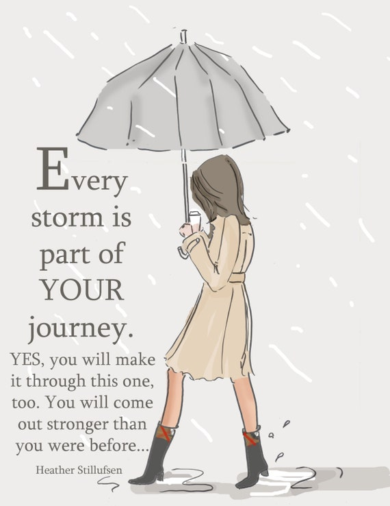 Encouragement Card - Every Storm - Art for Women - Quotes for Women  - Art for Women - Inspirational Art