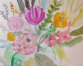 Yipee-Ki-Yay- Original Painting - Fresh, Colorful Bouquet