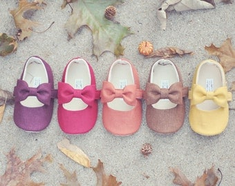Toddler Girl Shoes Baby Girl Shoes Soft Soled Shoes Flower Girl Shoes Fall Shoes Winter Shoes Mustard Shoes Burnt Orange - Maple